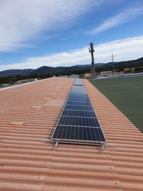 Réalisation photovoltaïque gymnase La Londe Les Maures